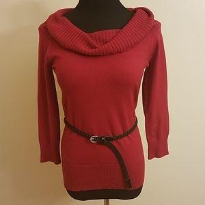 🍂B Wear Cow Neck Red Sweater